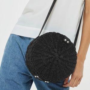 NWOT Topshop Rattan Straw Crossbody Bag
